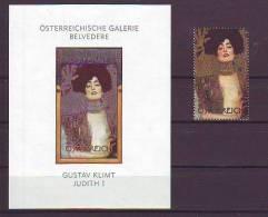514e: Gustav Klimt, Österreich- Ausgabe ** Und Gesuchter Buntdruck Geschnitten, RR - Modern