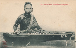 ASIE - CAMBODGE - PHOM PENH - Musicienne Cambodgienne - Cambodge