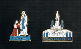 Lourdes: Basilique De L'Immaculée Conception + Bernadette Priant La Vierge - Steden