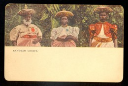 Kandyan Chiefs - Ceylon ------ Postcard Not Traveled, But There Are Stamps And Cancel On The Back - Sri Lanka (Ceylon)