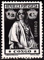 CONGO - 1914- Tipo «CERES» 1/2 C.  D. 15x14,  Papel Porcelana Médio, (l-l)  * MH   Afinsa Nº 100 - Congo Portoghese