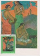 Carte Maximum Card  Gauguin  Trois Femmes Au Bord De La Mer Andorre Carte Musée Russe - Arts