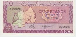 Rwanda 100 Francs 1964 Pick 8a AUNC - Qatar