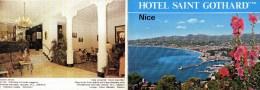 NICE HOTEL SAINT GOTHARD 06 ALPES MARITIMES - Dépliants Turistici