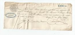 LETTRE DE CHANGE , Billet à Ordre , 1000 , Mille FRANCS , TROYES Le 20 Février 1949 , Frais Fr : 1.80€ - Bills Of Exchange