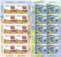 1999. Lithuania, Europa 1999, 2 Sheetlets, Mint/** - 1999
