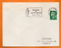 93 ST DENIS   FESTIVAL   16 / 6 / 1969  Lettre Entière N° N  458 - Mechanical Postmarks (Advertisement)