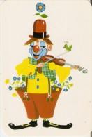 CALENDARIO DEL AÑO 1971 DE UN PAYASO TOCANDO EL VIOLIN (CALENDRIER-CALENDAR) CLOWN - Calendarios