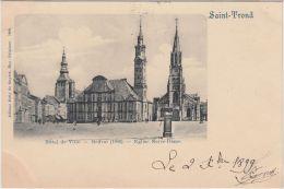 23522g  HOTEL De VILLE - BEFFROI - EGLISE NOTRE DAME - Saint-Trond - 1899 - Sint-Truiden