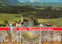 7477- WEILHEIM- THE WIES CHURCH, PANORAMA, INTERIORS - Weilheim