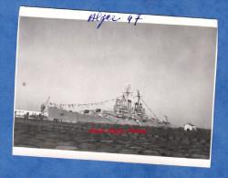 Photo ancienne - ALGER - Navire de Guerre - Croiseur am�ricain DAYTON - Novembre 1947 - Alg�rie