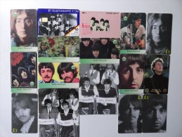 LOT OF 18 PHONECARDS THE BEATLES MIXED AND LIMITED EDITION - Music