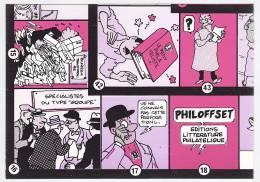 PUZZLE à La Manière D'Hergé - G.POLI - Exposition Philatélique Nationale De Bordeaux 1984 - 10 CPM Publicitaires - Illustrateurs & Photographes