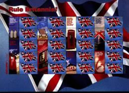 GREAT BRITAIN - 2004  RULE BRITANNIA GENERIC SMILERS SHEET   PERFECT CONDITION - Fogli Completi