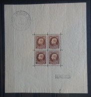 BELGIE  1924  BLOK 1   Scharnier *    CW 300,00