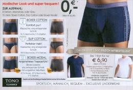 BRD Weil Am Rhein Porto Zahlt Empfänger DP Antwortpostkarte Tono Classics Mann Unterwäsche Slip - Textil