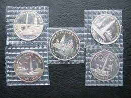 Ukraine - Set Of 5 X 200000 Karbovantsiv 1995 Coin UNC, Anniversary Of Victory - Ukraine