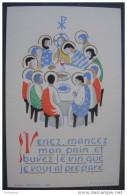 IMAGE PIEUSE Années 1950: Illustrée Par Jean OLIN - LA CENE - / HOLY CARD / SANTINI - Images Religieuses