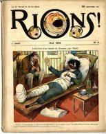 RIONS  -  CARICATURE  -  HUMOUR  -  1908  -  N° 2   -  CADEL - Books, Magazines, Comics