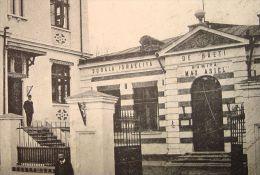 "BUCURESTI 1925, JUDAICA, Scoala ISRAELITA ""CULTURA"", stamp SATU MARE, rare"