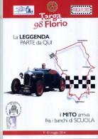 FOLDER 98 TARGA FLORIO 2014 CIRCOLO FILATELICO TERMINI IMERESE CARTOLINA + BUSTA NUMERATO BOLLI MANIFESTAZIONE - Italia
