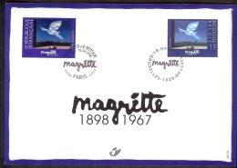 Carte souvenir  2755 HK Ren� Magritte, peintre,�mission commune avec la France 1998