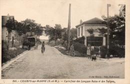 77 CHAMPS SUR MARNE - Carrefour Des Longues Raies Et Des Tulipes - Other Municipalities
