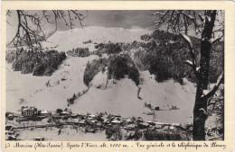 Carte Postale Ancienne De Hte-Savoie - Morzine - Sports D'hiver - Alt.1000m. - Vue Générale Et Le Téléphérique Du Plenay - Morzine