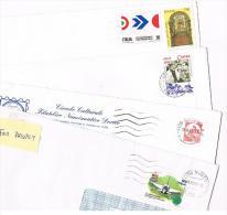 ITALIA  - STORIA POSTALE - LOTTO DI 4 LETTERE X INTERNO (1 CON CASTELLI X BOBINA)  - RIF.2583 - 1991-00: Poststempel