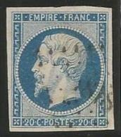 France - Napoleon III - N°14A Bleu - Obl. LP 1818 LYON - 1853-1860 Napoléon III