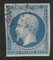 France - Napoleon III - N°14A Bleu - Obl. LP 2128 MONTPELLIER - 1853-1860 Napoléon III