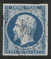 France - Napoleon III - N°14A Bleu - Obl. LP 2738 ROUEN - 1853-1860 Napoléon III