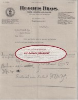 Document Du 06/02/1917 HUGHES BROS Vins Liqueurs Cigares - Vancouver Canada - Canada