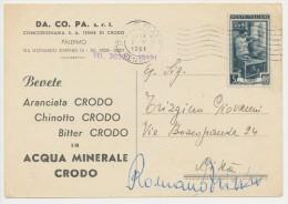 PALERMO PUBBLICITARIA BIBITE CRODO IN ACQUA MINERALE  1951 - Publicité