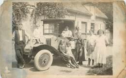 CARTE PHOTO CAMIONNETTE DE LIVRAISIN - Taxi & Carrozzelle