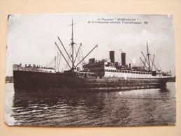 """PAQUEBOT """" MARRACKECH """" Compagnie-Générale-Transatlantique Bateau Marine Marchande Française - Steamers"""
