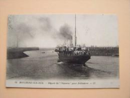 """BOULOGNE-Sur-MER FOLKESTONE Départ Du PAQUEBOT """" VICTORIA  """"  Bateau Marine Marchande - Dampfer"""