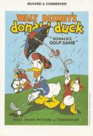 "WALT DISNEY'S Donald Duck""Donald's GOLF GAME"" - Buvards, Protège-cahiers Illustrés"