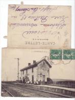Authieule (62) - La Gare.  2 Volets, A Circulé, Bon état. - Autres Communes