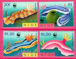 Niue, 1999, Weltweiter Naturschutz: Nacktkiemer, MI 922-925, MNH - Marine Life