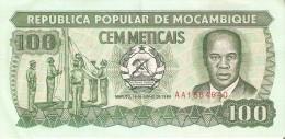 BILLETE DE MOZAMBIQUE DE 100 METICAIS DEL AÑO 1989 (BANKNOTE) - Mozambique