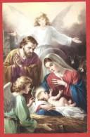 CARTOLINA NV ITALIA - HEUREUX NOEL - BUON NATALE - Natività - Sacra Famiglia - 9 X 14 - Altri