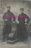 Carte Photo-deux Soldats Du 7e Et 60e Régiment- Photo Alfred D'Hoop à Besançon - Guerre, Militaire