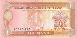BILLETE DE TURKMENISTAN DE 1 MANAT DEL AÑO 1993  SIN CIRCULAR-UNCIRCULATED (BANKNOTE) - Turkmenistán