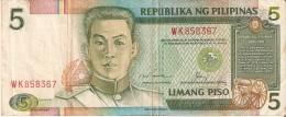 BILLETE DE FILIPINAS DE 5  PISO   (BANKNOTE-BANK NOTE) - Filipinas