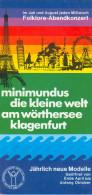 Broschüre Prospekt Folder Klagenfurt Am Wörthersee Minimundus 1988 Kärnten AUSTRIA Österreich Carinthia Autriche Celovec - Reiseprospekte