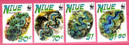 Niue, 2002, Weltweiter Naturschutz: Kleine Riesenmuschel, MI 973-976, MNH - Marine Life