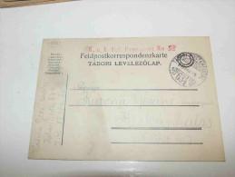 Austria Österreich Hungary Magyarország Tábori Posta Feldpostkarte K.u.k. Infanterie Regiment 52 Feldpost 634 1917 - Usados