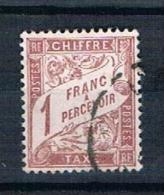 1893 - 1935 1F Timbre Taxe Yv 40A - 1859-1955 Usados