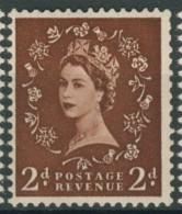 BL2-321 GREAT BRITAIN 1955-58 SG 543Wi WM21 St EDWARDS CROWN INVERTED, OMGEKEERD. MNH, POSTFRIS, NEUF**. - Ongebruikt